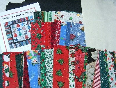 Christmas Quilt Kit  - Easy, Ready to Sew  - Pre-cut Christmas Fabrics