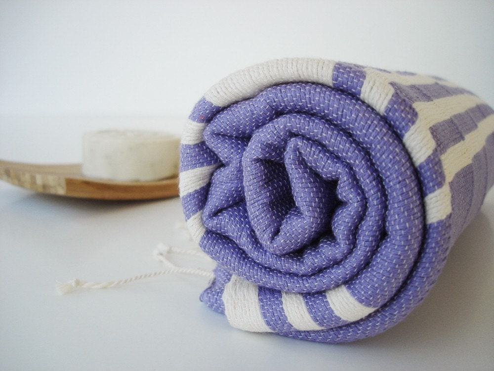 Turkish BATH Towel Peshtemal - Purple