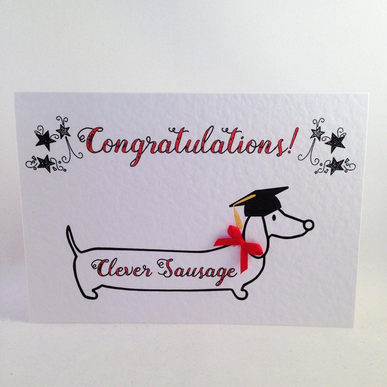 Graduation Dachshund Sausage Dog Congratulations Card