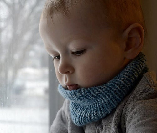 Toddler's cowl-neck warmer 12mo-2t