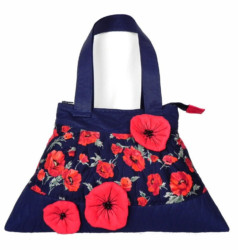 POPPY  GIRL, Pleated Shoulder Bag, Flowerty Purse