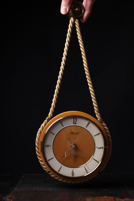 Vintage Kienzle Wall Clock Nautical Rope German By