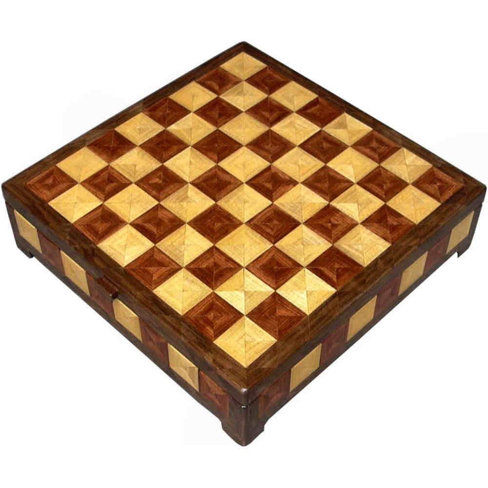 Hackberry, Bubinga and Walnut Chess Box