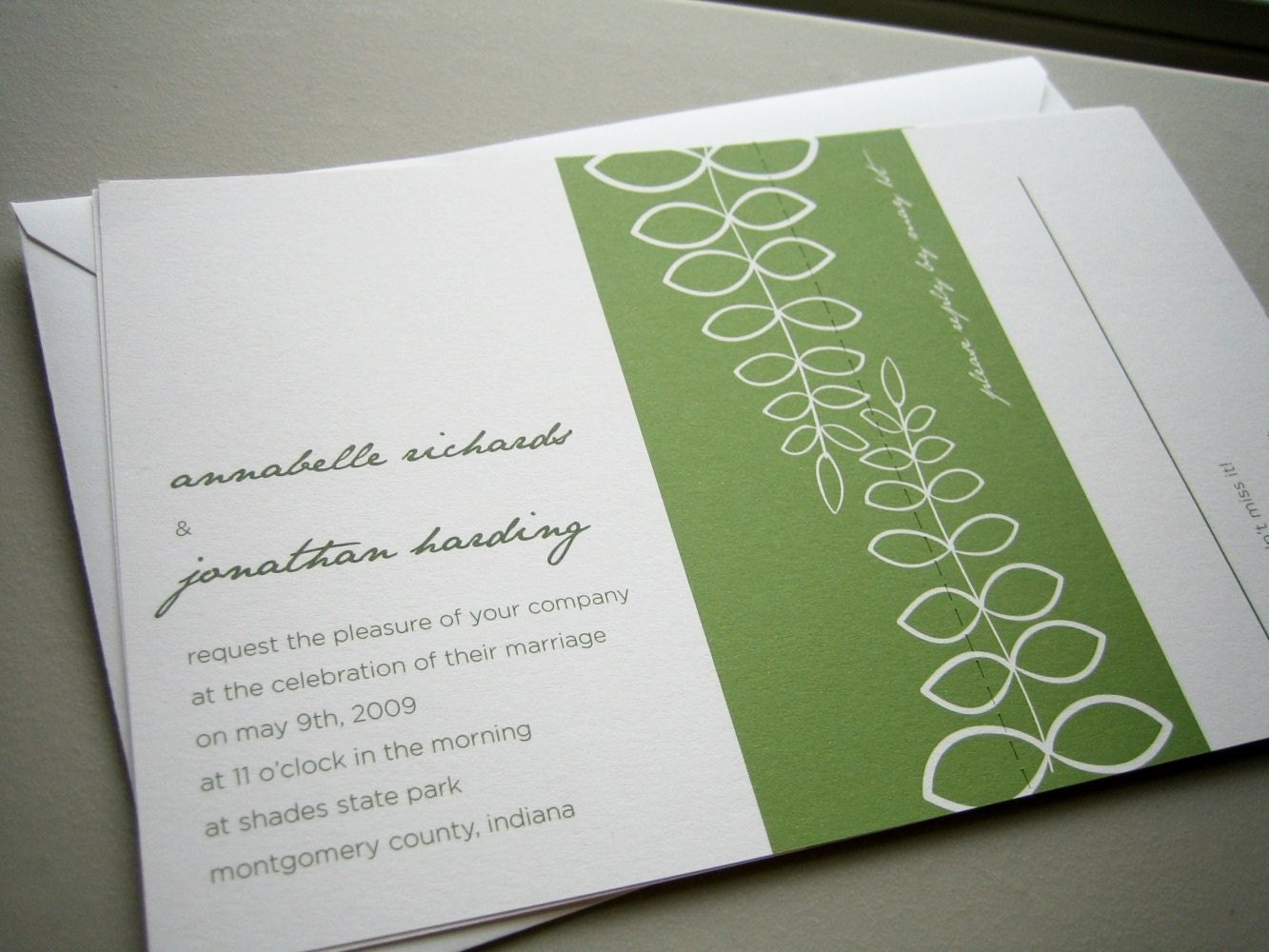 fern eco-friendly invitation