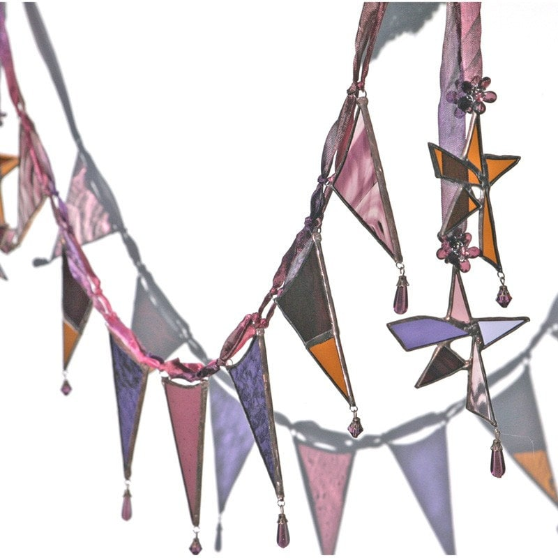Magical Realism - a ooak stained glass garland or bunting