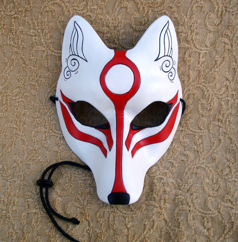 Как сделать японскую маску кицунэ своими руками