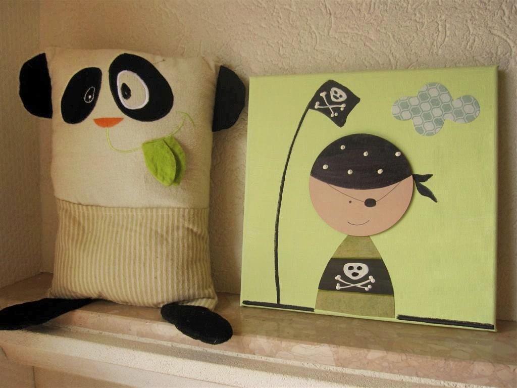 Pirate Canvas For Kids Room Decor Nursery Art By Galerieanais