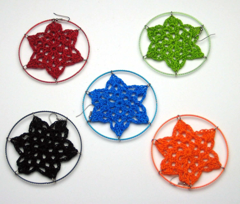 SALE: Crochet Hoop Earrings. Choose