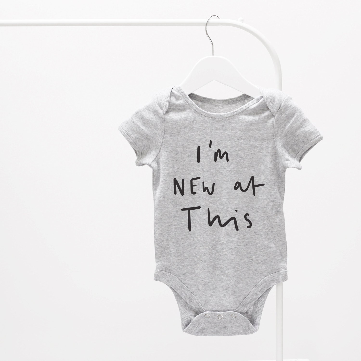 Im new at this Baby Grow  graphic baby grow fun baby grow baby clothes