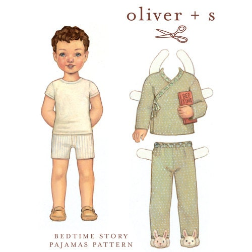 Oliver and S Bedtime Story Pajamas Pattern NEW - magpieandcake
