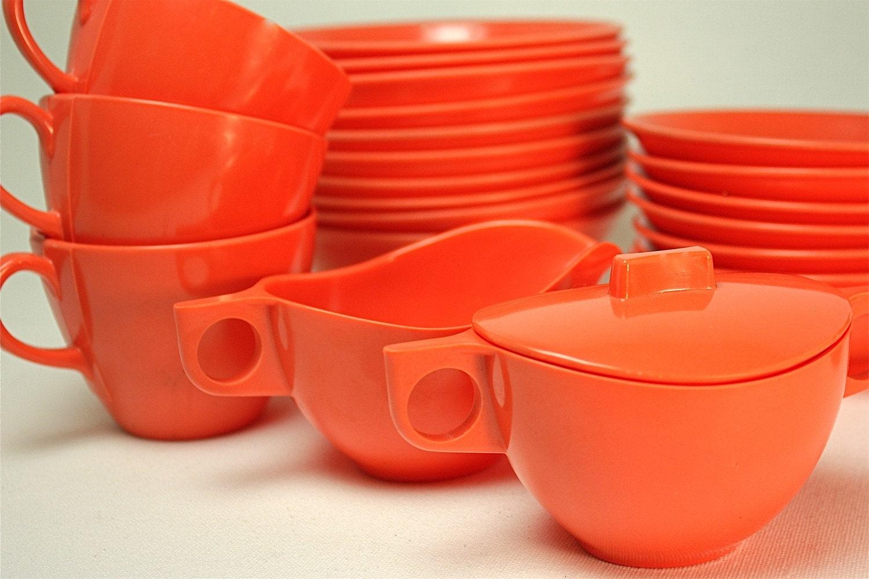 mid century melamine dinnerware