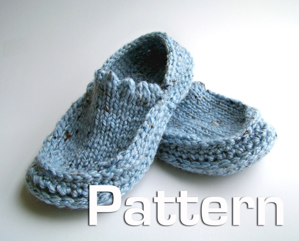 Knit Slippers Pattern : PATTERNS KNIT SLIPPERS   Free Patterns