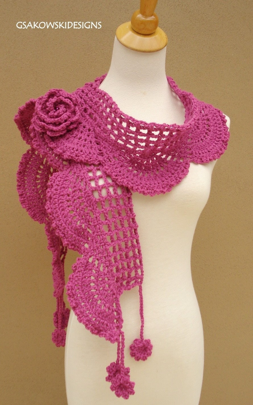 Collette Scarf- Shawl-Pink