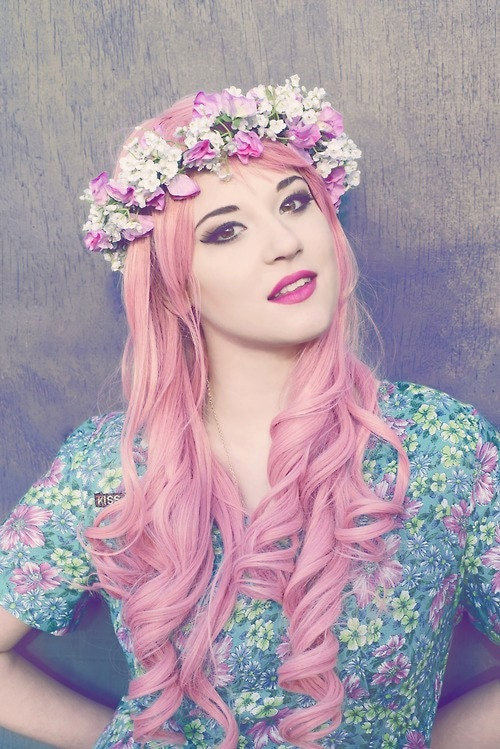 Sweet Pea Flower Crown - EmilyElisabeths