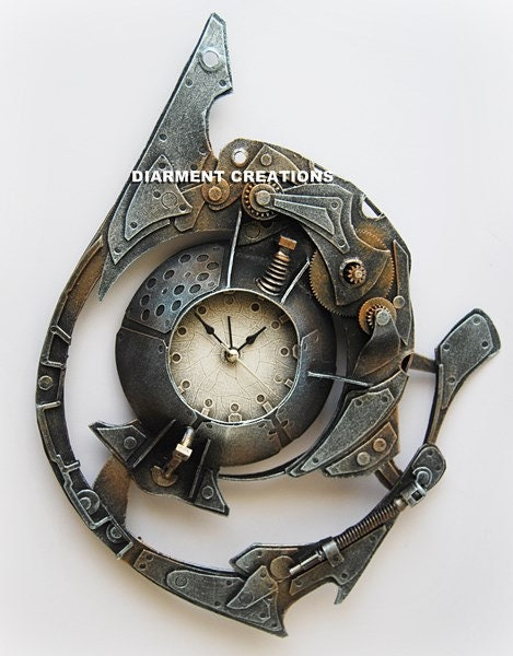 Steampunk Spiral Time Clock V - diarmentcreations