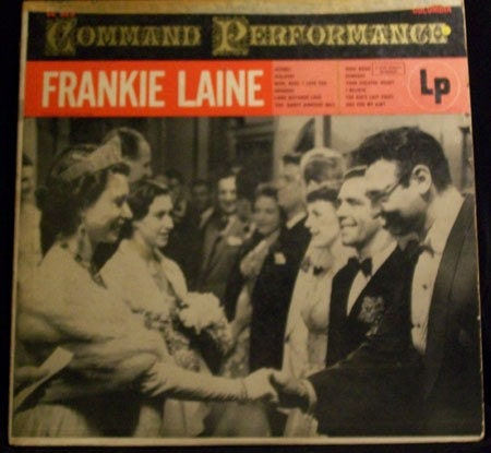 Frankie Laine  Command Performance Vintage Vinyl LP,  1954 Columbia Records