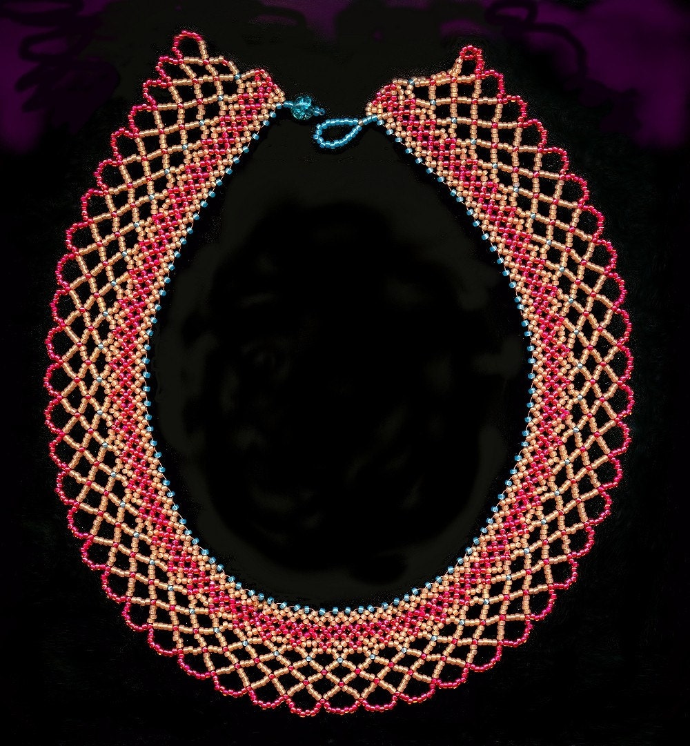 items similar to cometary a bead netting necklace on