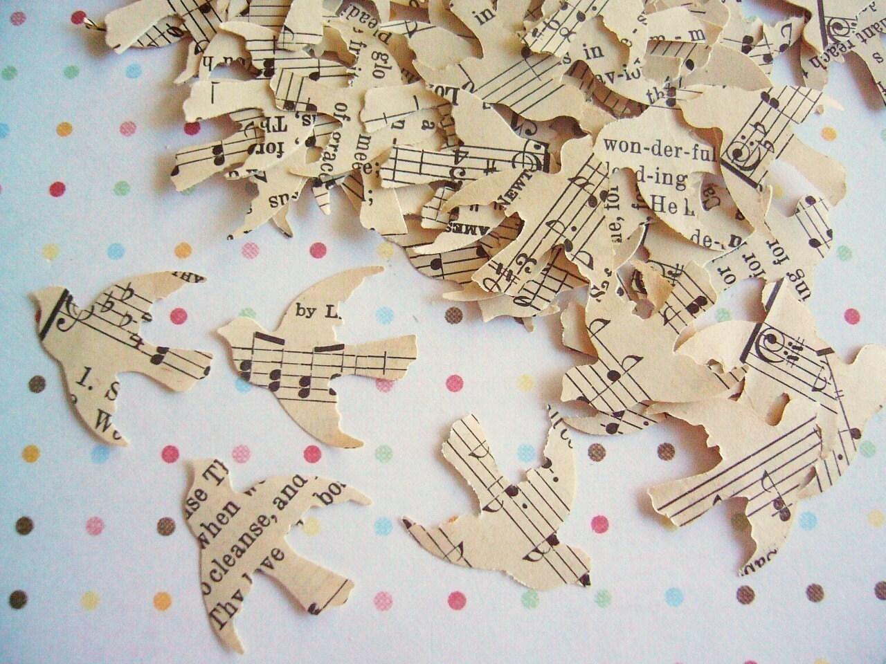 Vintage Love Bird Confetti