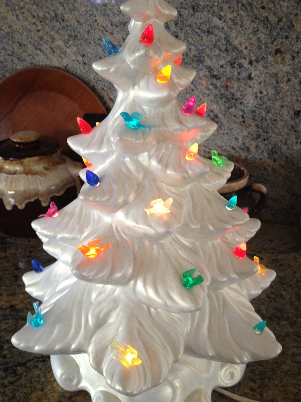 Items Similar To Fabulous Ceramic White Christmas Tree