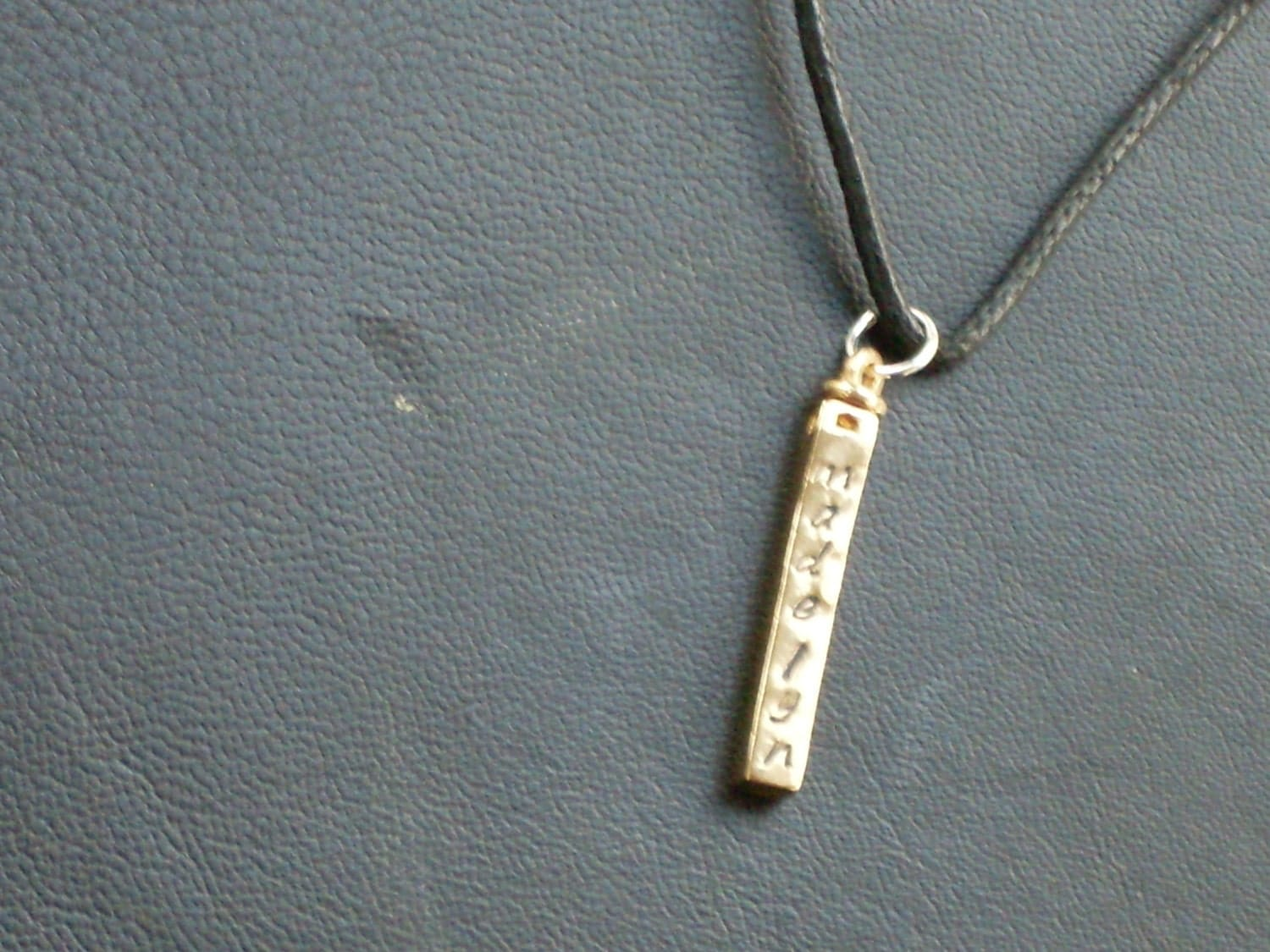 personalized s swivel bar necklace by annsterw on etsy