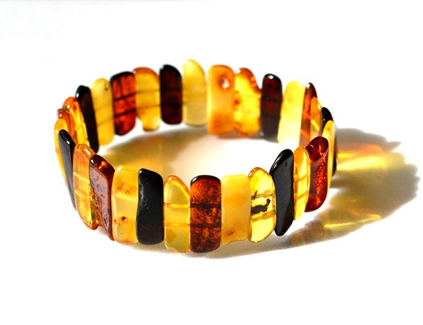 Natural Baltic Amber Bracelet Amber Jewelry Sunny Day Sun Drop Golden Amber - KARUBA