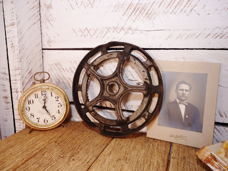 Antique Cast Iron Wheel - Urban Industrial - 3 Available