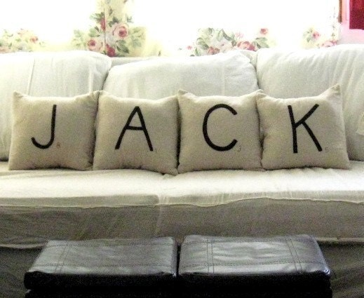 what's in a name scrabble pillows