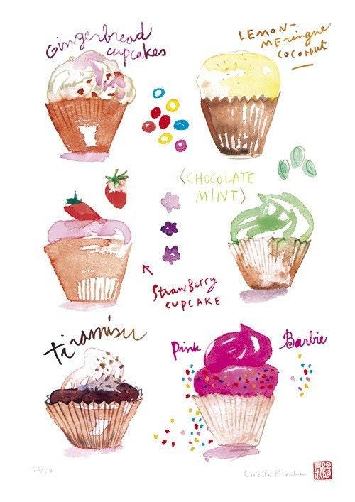 Cupcakes collection-No.1- Print