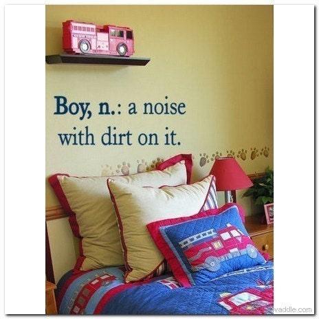 Boy, a noise - Vinyl Wall Lettering Words Bedroom Decor