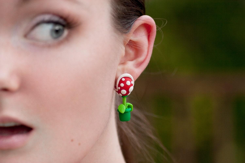 Nintendo Mario YOUCH Piranha Plant Earrings