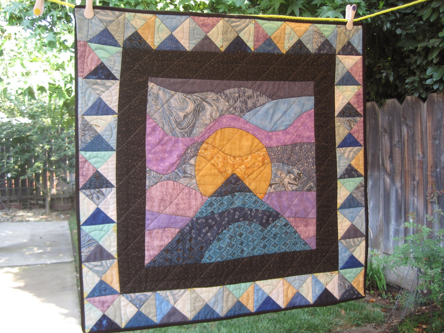 Moon Over The Mountain Quilt By Luciansgrandma On Etsy