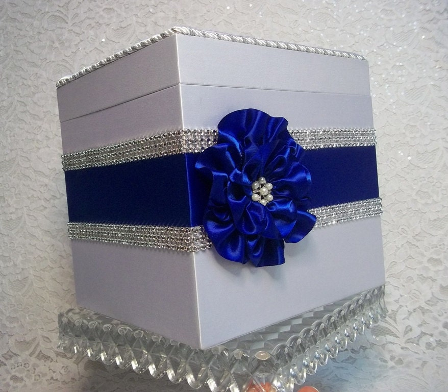 Wedding Shower Gift Card Box : ... Mesh Trim, gift card box, bridal shower card box, Made to Order