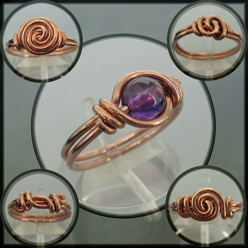 Five Rings For The... (Set of 5 Copper Wire Rings,  with a fun 'Lord of the Rings' backstory)