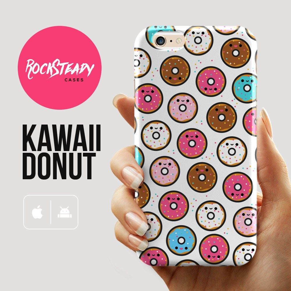 Cute Donut pattern iPhone 6 case kawaii iphone 6s case iPhone 6 Plus case iPhone 5s Case samsung Galaxy s6 case doughnut s5 case