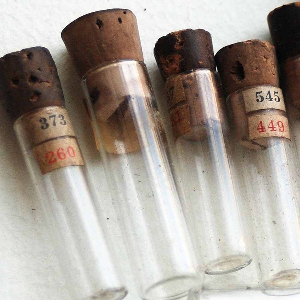 8 vintage bottles or vials for watch parts to use in your assemblage mixed media JEWELRY or in any way you would want it to CHARM lot