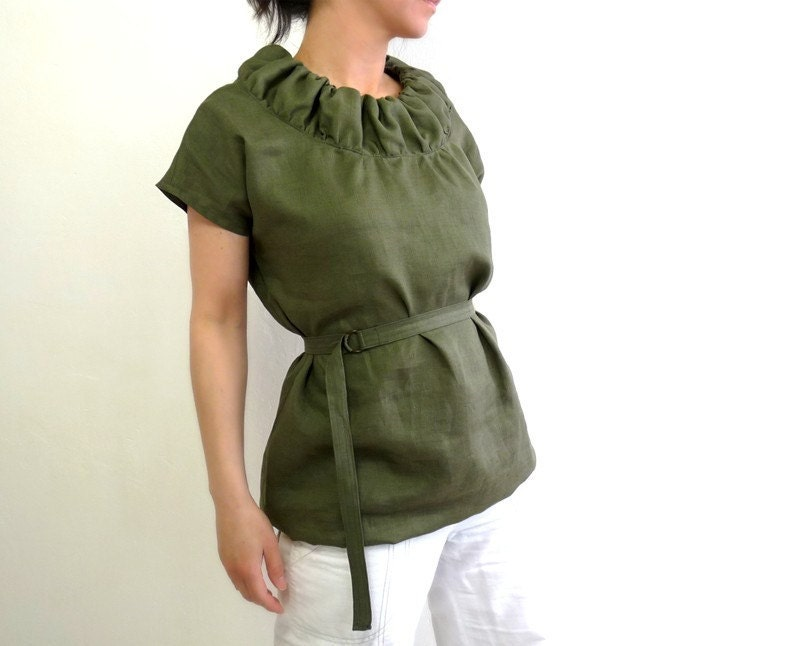 Marie Linen Bubble Tunic, $135