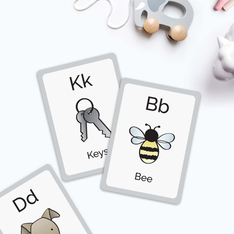 SALE  Alphabet flashcards Alphabet learning card childrens development new baby gift christening gift nursery decor ABC baby toy