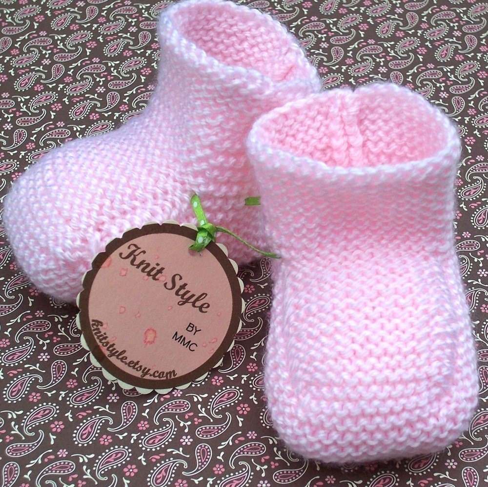 Baby Bootees - Strawberry Shortcake (3-9 Months)