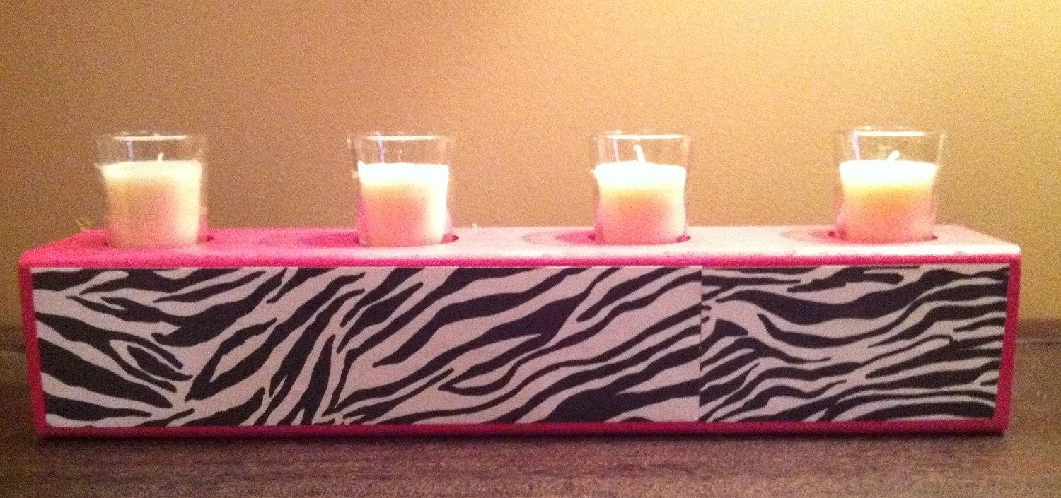 Funky wooden votive holder