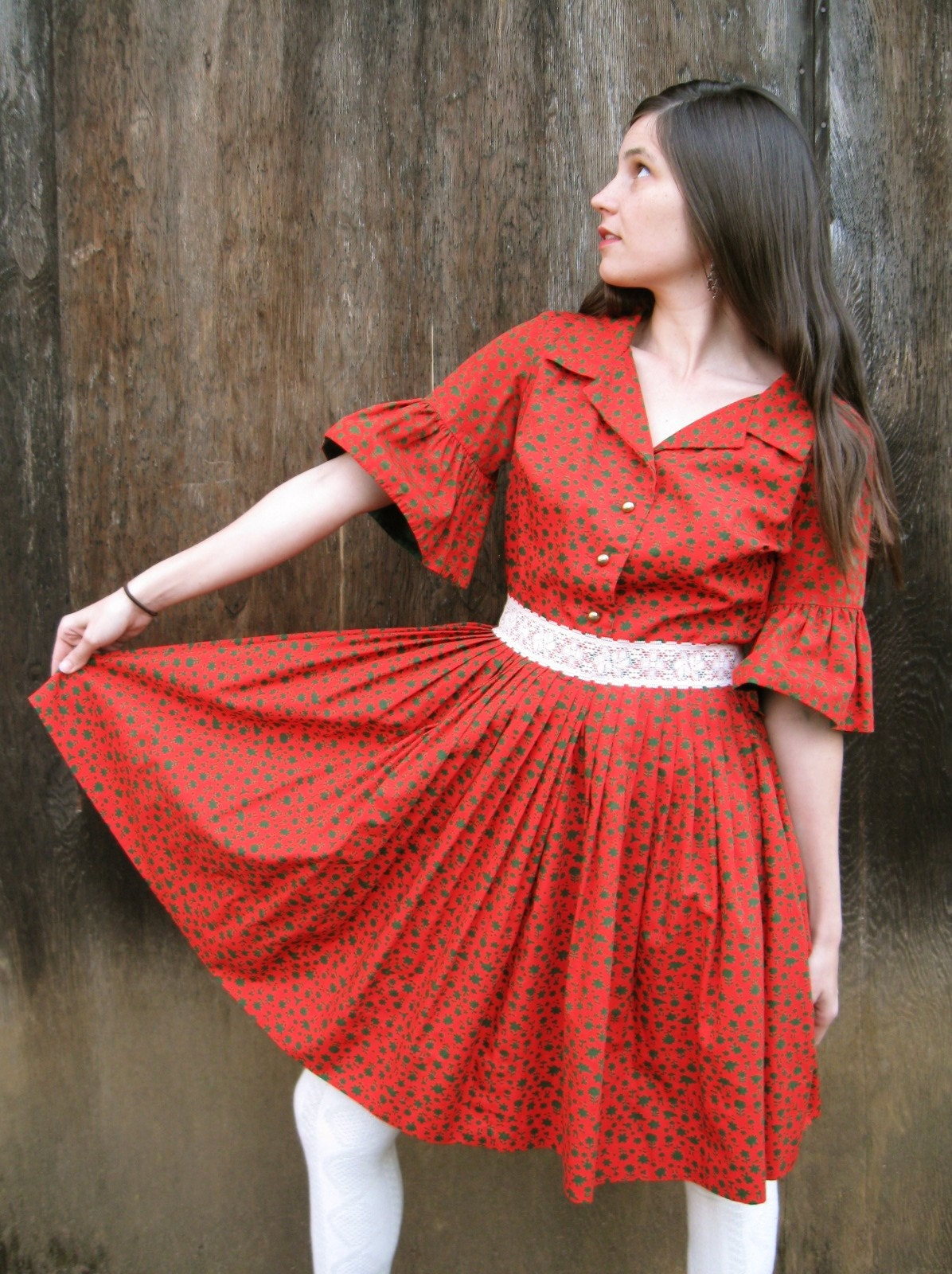 The Bell Sleeve Folk Dress S/M