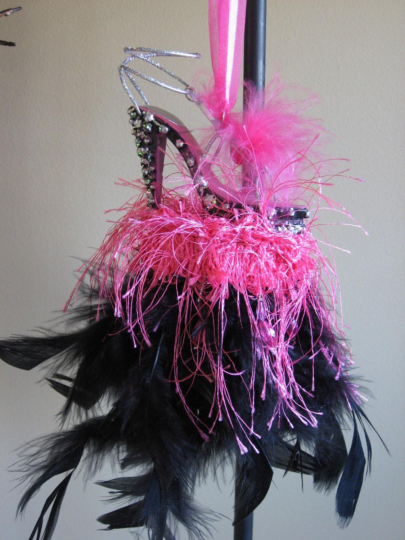 Valentines Fuchsia/Pink Shoe Decorative HandmadeTassel