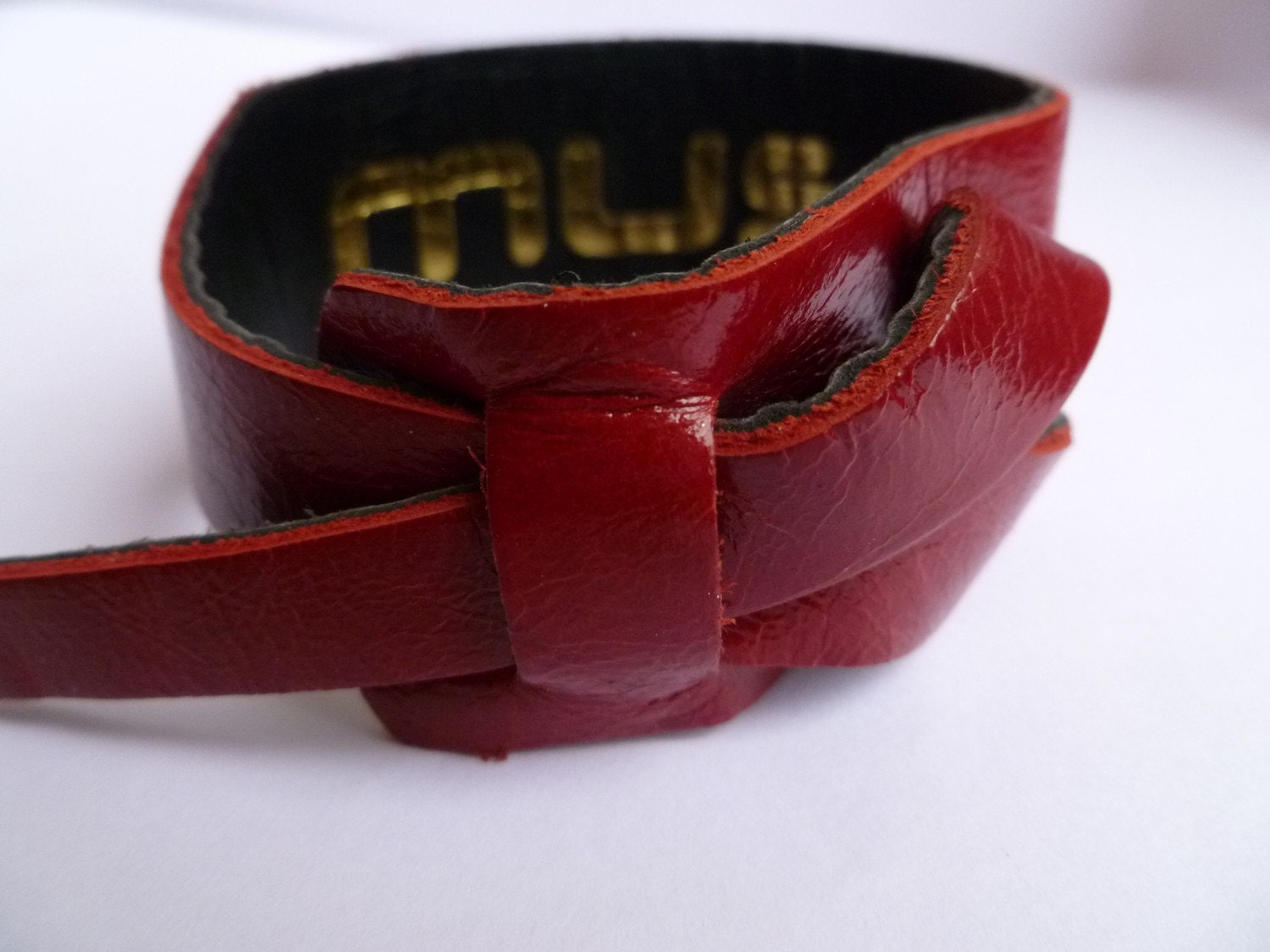 Red Leather Cuff/Bracelet