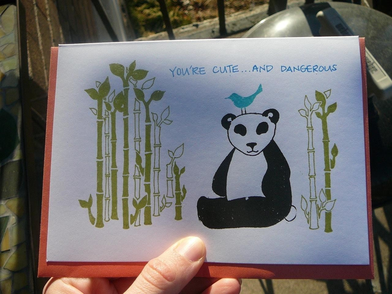 Cute and Dangerous - Valentine Card from PaperMichelle