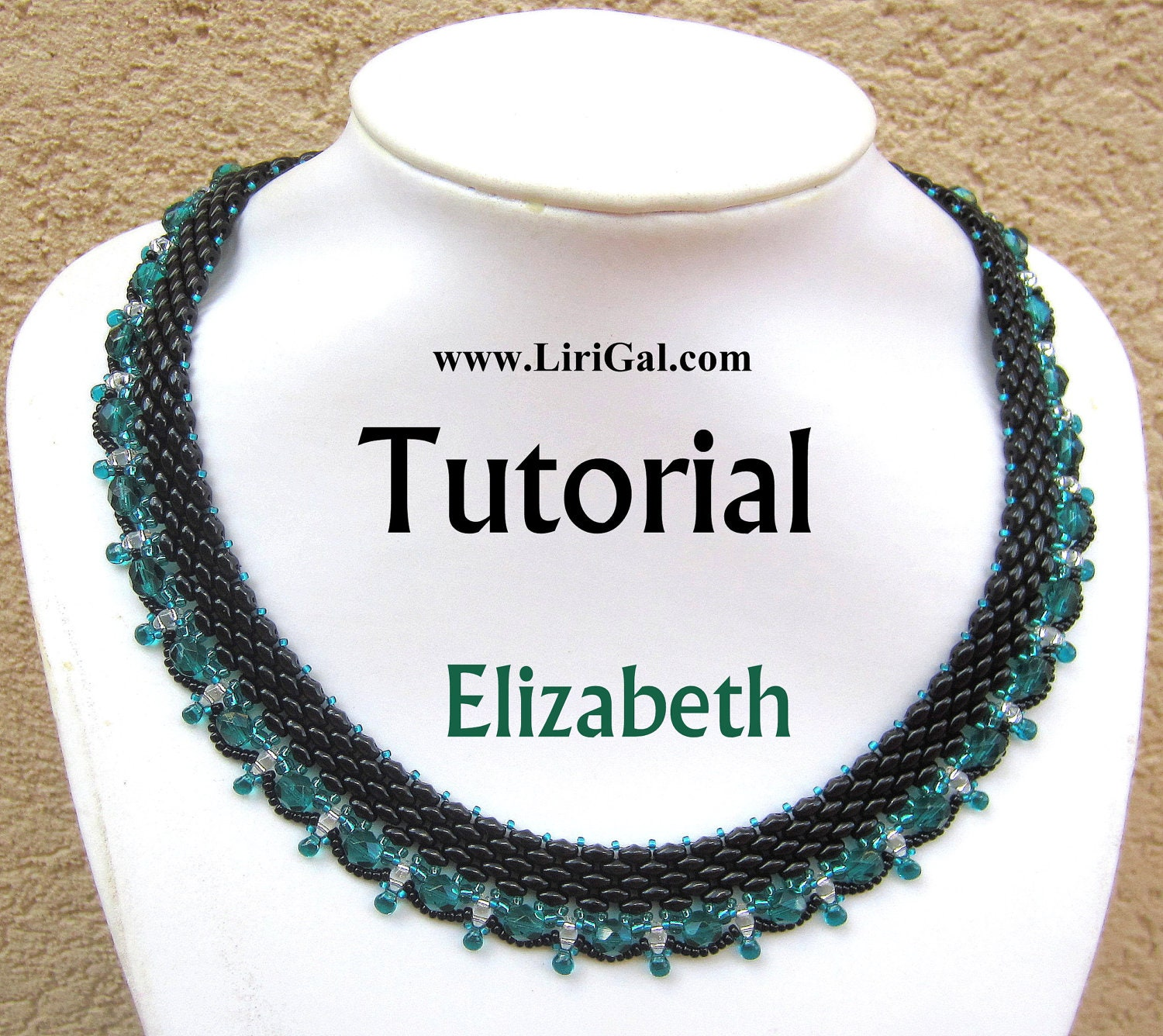 Elizabeth SuperDuo Beadwork Necklace PDF Tutorial