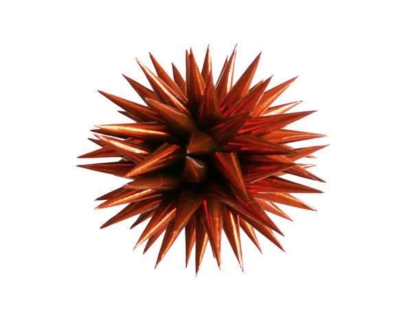 Copper Polish Star Ornament, Dark Metallic Orange Paper Christmas Holiday Decoration - Copper,  3 inch - kissadesign