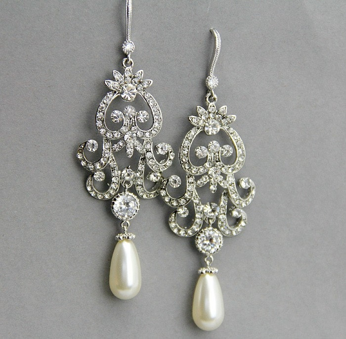 Bridal Earrings Bridal Chandelier Earrings By