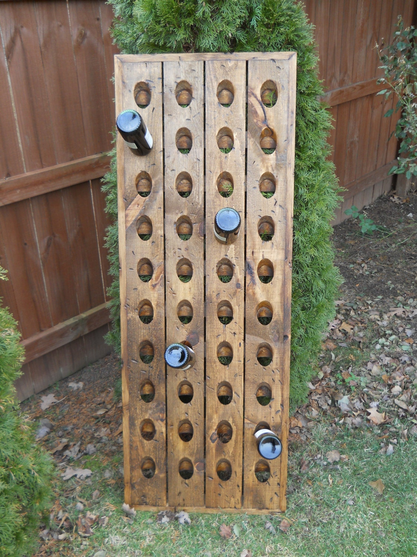 Distressed Riddling Rack, Tavern Grade Wine Rack, Distressed Wine Rack, Riddling Rack,