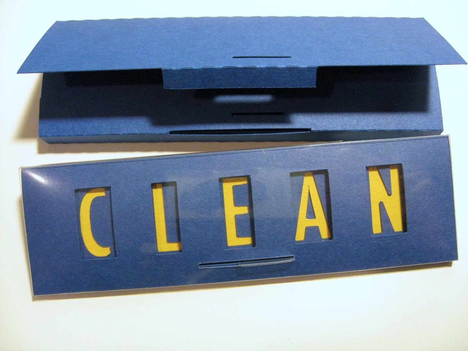 Quick Flick, Clean / Dirty Dishwasher Sign in BLUE