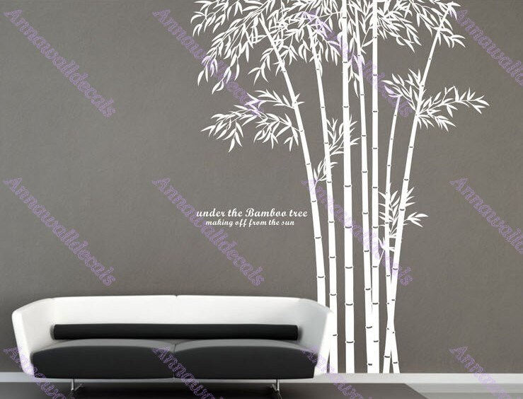 Elegant bamboobamboo wall decalswall decals vinyl by