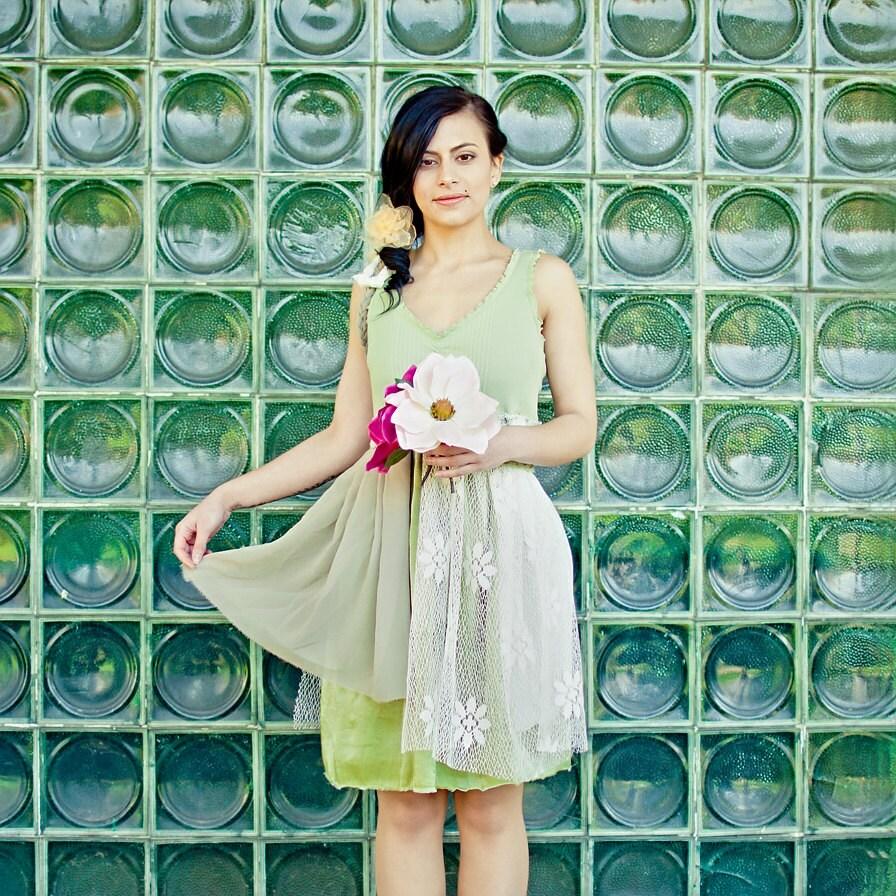 Upcycled Wedding Bridesmaid Dress Cream by BehindTheSevenSeas